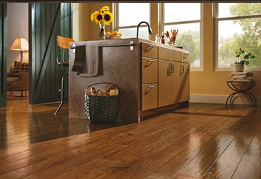 wooden floor in kitchen Palatine