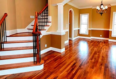 Waxed-floor-and-stairs
