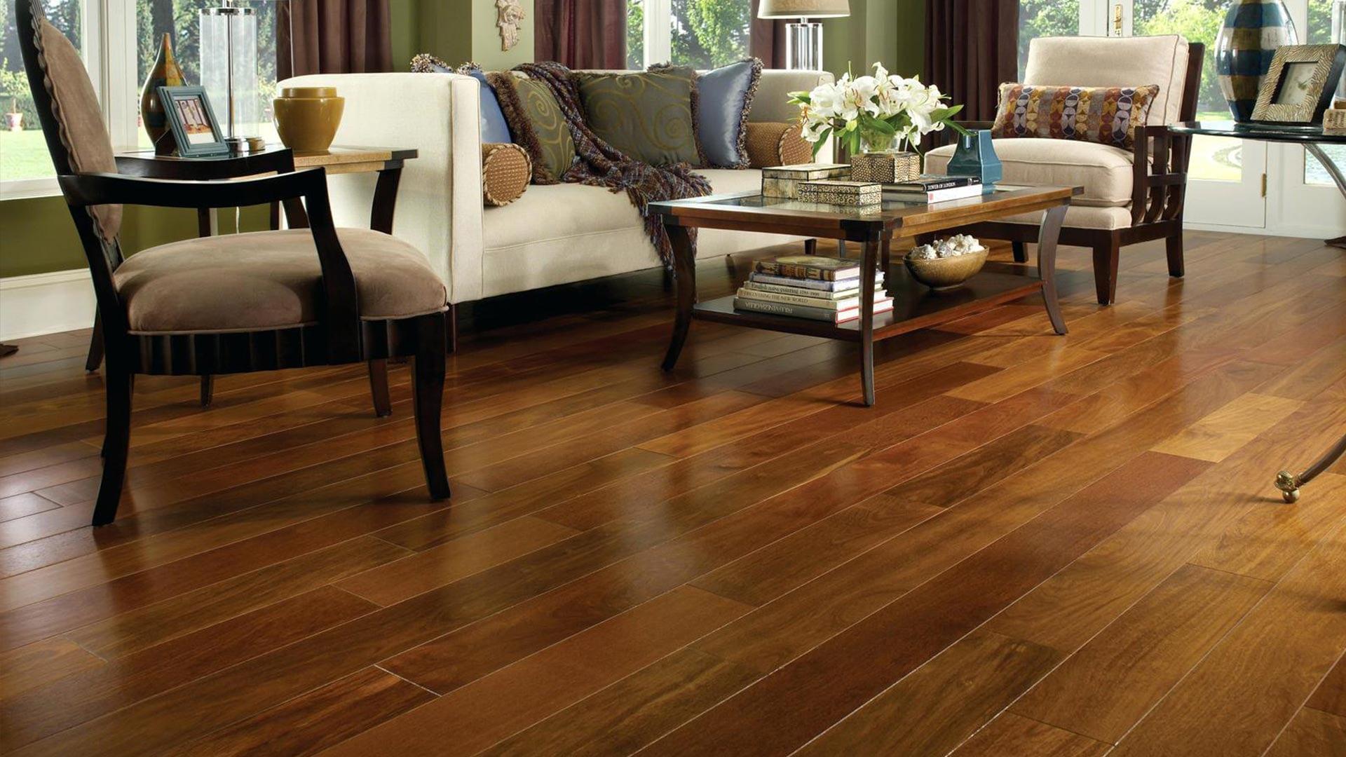 Palatine wooden floor in living room
